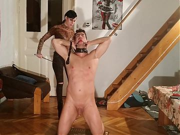 Slave training and humiliation by sexy mistress pt 1