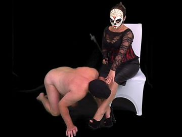 Mistress Makes Femdom CFNM Sissy Slave Tuck Away Tiny Penis