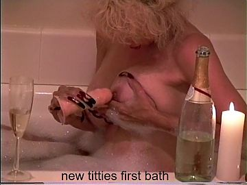 new titties first bath